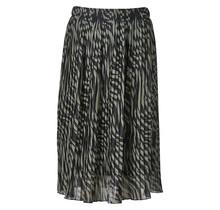 Dames plisse zebra donkergroen lang
