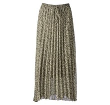 Dames rok plisse panter groen kort