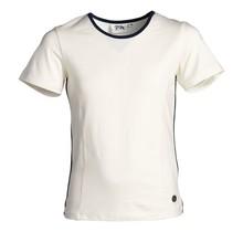 Meisjes shirt offwhite/marine detail