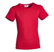 Meisjes basic shirt Rood