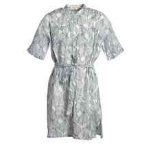 Meisjes jurk Wit met bladeren print