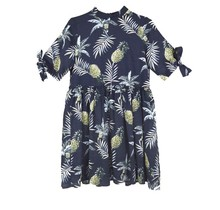 Meisjes jurk  Marine ananasprint
