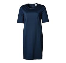 Dames stretch jurk marine/marine accent, km, kort