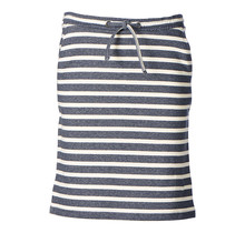 Dames rok tricot grijs/offwhite streep