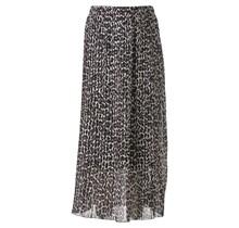Dames rok plisse panter grijs lang