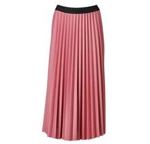 Dames plisse oud roze lang