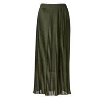 Dames plisse rok donkergroen lang