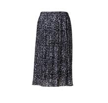 Dames rok plisse panter blauw kort
