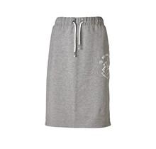 Dames rok terry grijs met witte accenten/print