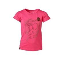 Meisjes shirt roze paarden glitter