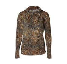 Dames shirt waterval slangenprint