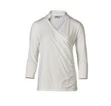 Dames shirt overslag offwhite