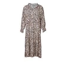Dames jurk lang tijgerprint offwhite