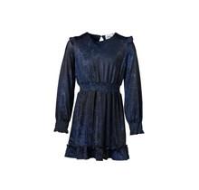 Meisjes jurk slangenprint marine/kobalt