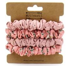 Set met 4 Scrunchies roze