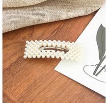 Haarknip met pareltjes rechthoekvorm