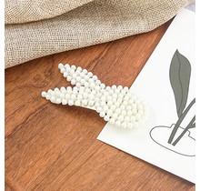Haarknip witte strik konijn