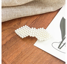Haarknip met pareltjes ruitvorm