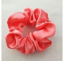 Scrunchie satijn look roze