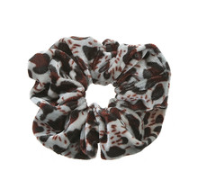Scrunchie panterprint klein velvet zwart/bruin/grijs