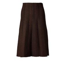 Dames rok visgraad design bruin