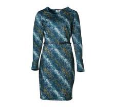 Dames milano jurk slangenprint, lm - lang
