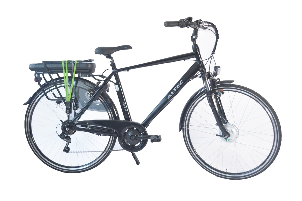 Altec Altec City E-Bike Heren 480Wh Zwart 6-sp 2020 Nieuw