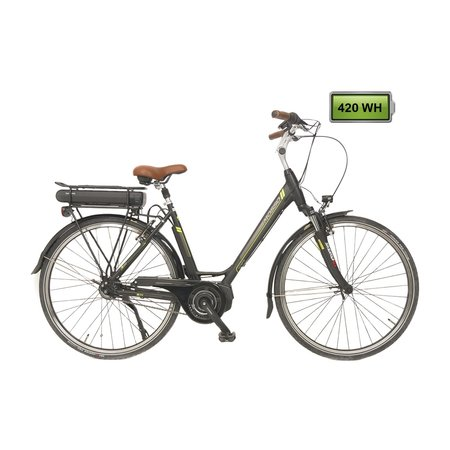 Altec Mosso E bike Shimano Steps 420Wh N-8 Zwart-Groen  *** ACTIE PRIJSVERLAGING***
