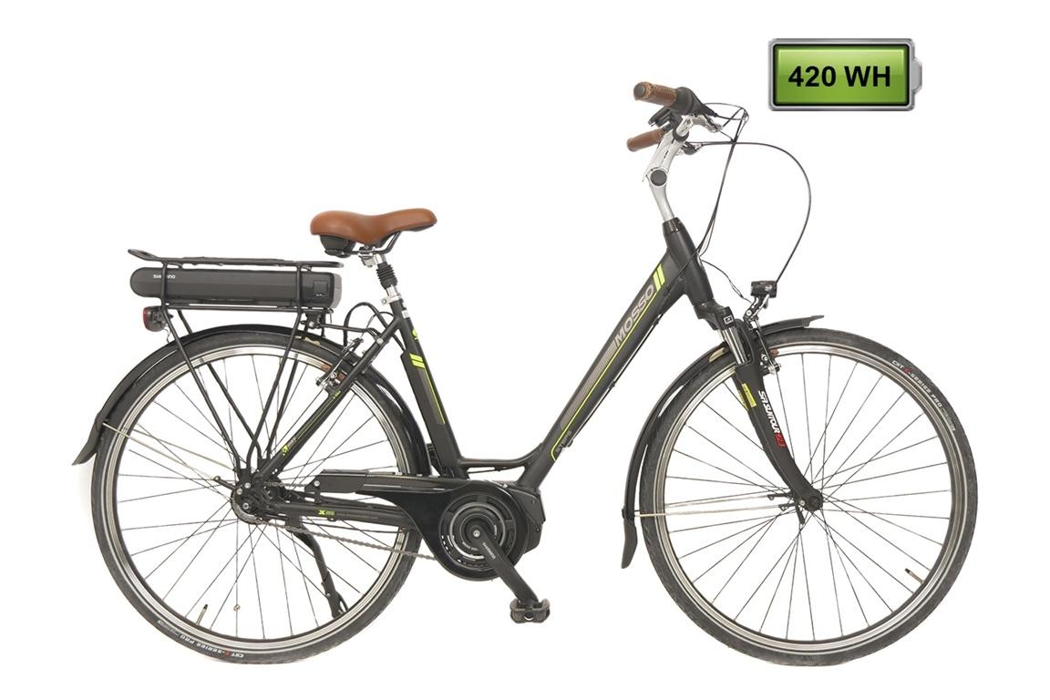 Altec Mosso E bike Shimano Steps 28 inch 8v Zwart-Groen