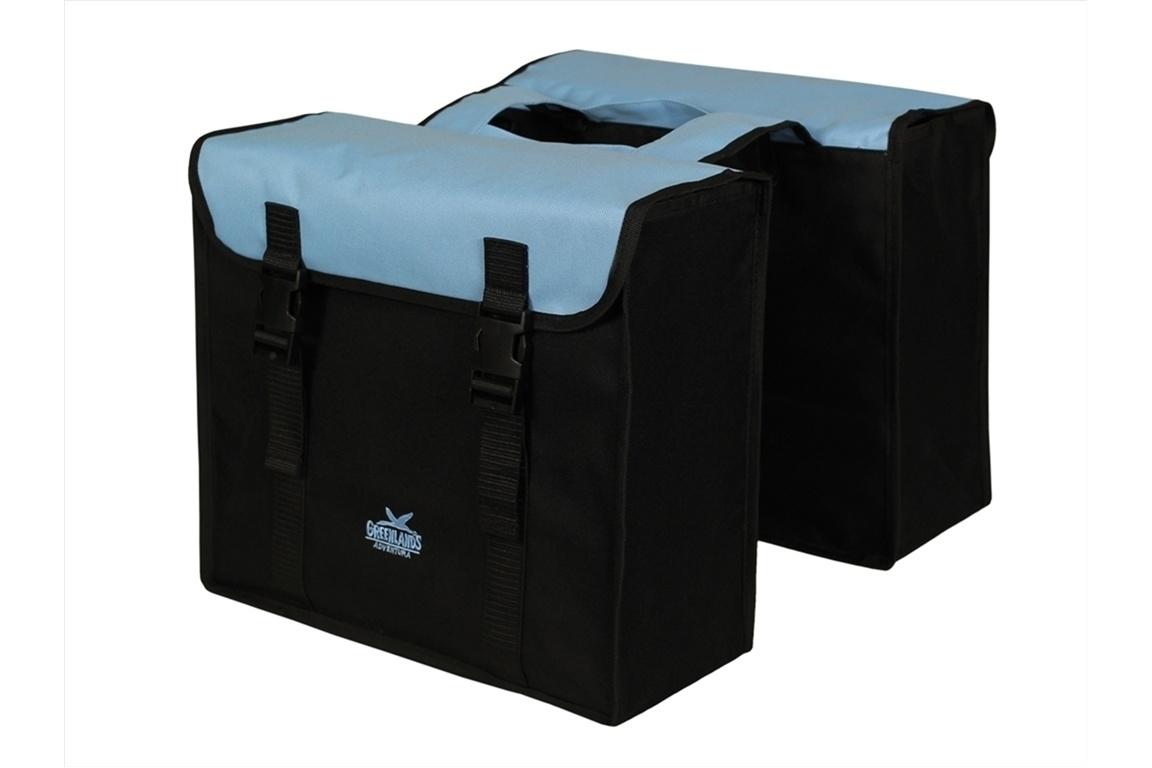 Altec Greenlands Fietstas Dubbel Zwart/Lichtblauw 34 liter