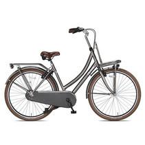 Outlet Crown Paris Transportfiets 28 inch v-brakes Industrial Gray