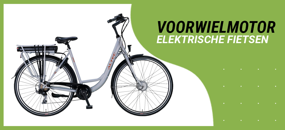 Elektrische fiets met voorwielmotor