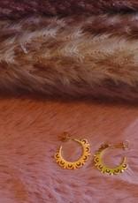 Sunlace earrings gold