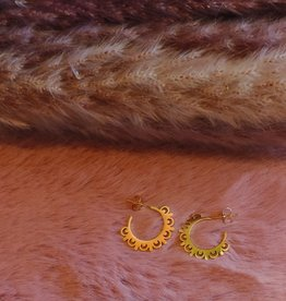 Sunlace earrings gold