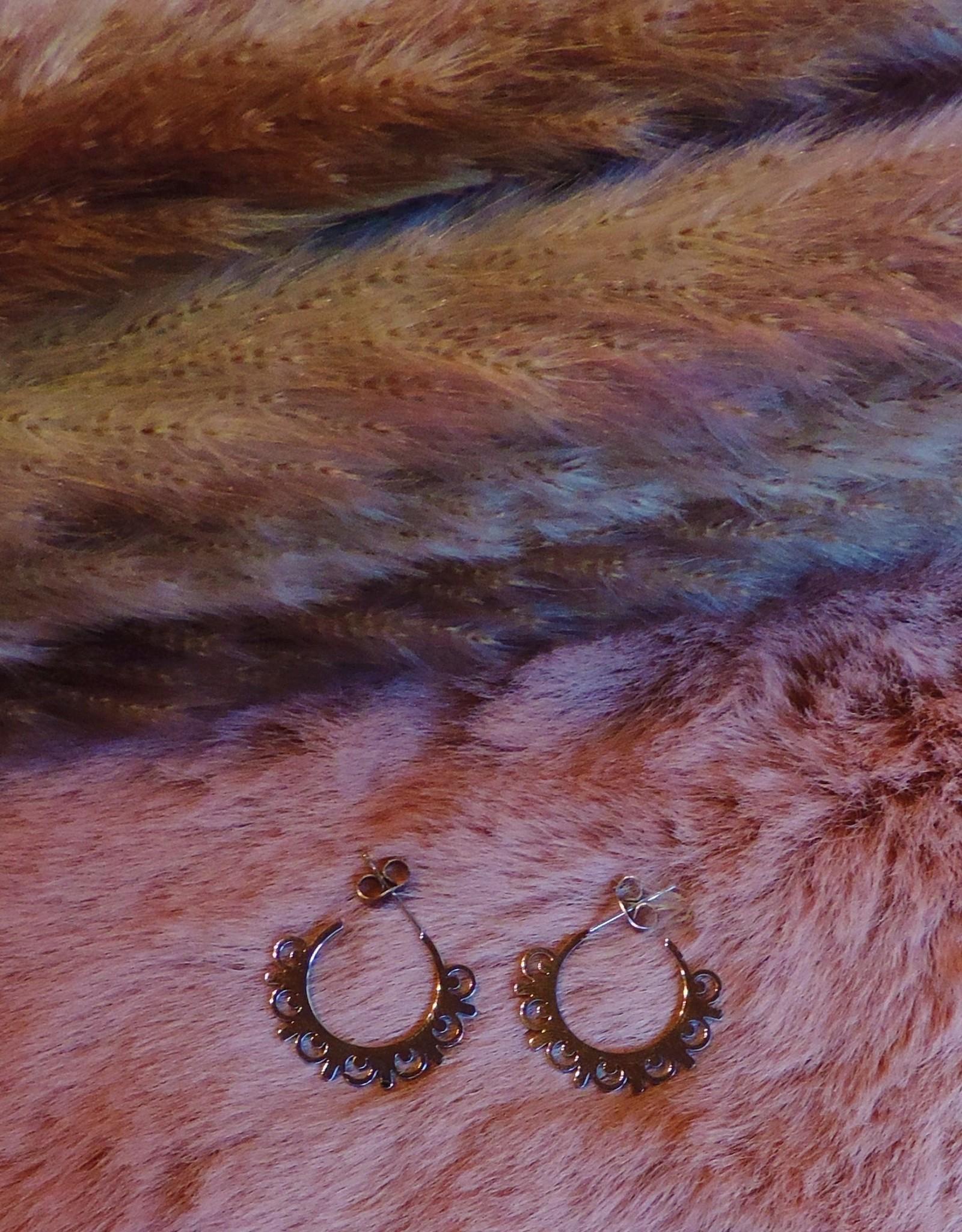 Sunlace earrings silver