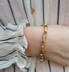Box Chain Bracelet antique gold