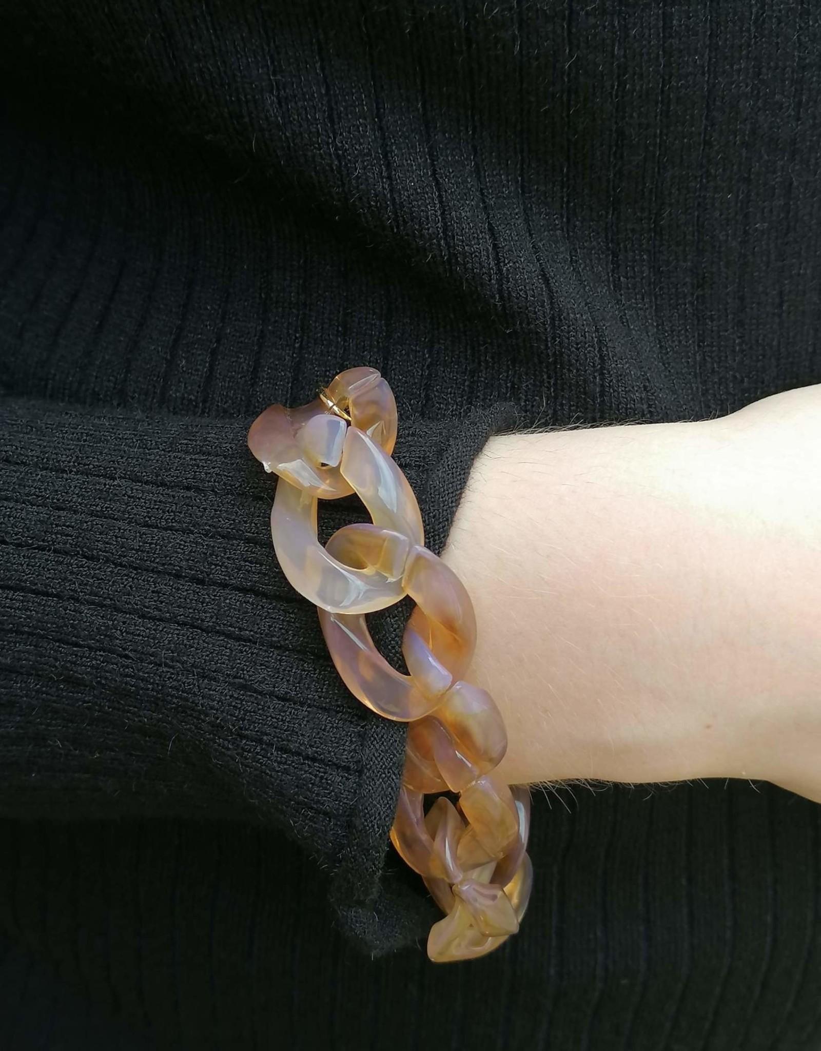 Tortoise Link Bracelet light brown