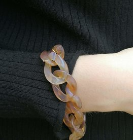 Tortoise Link Bracelet light brown