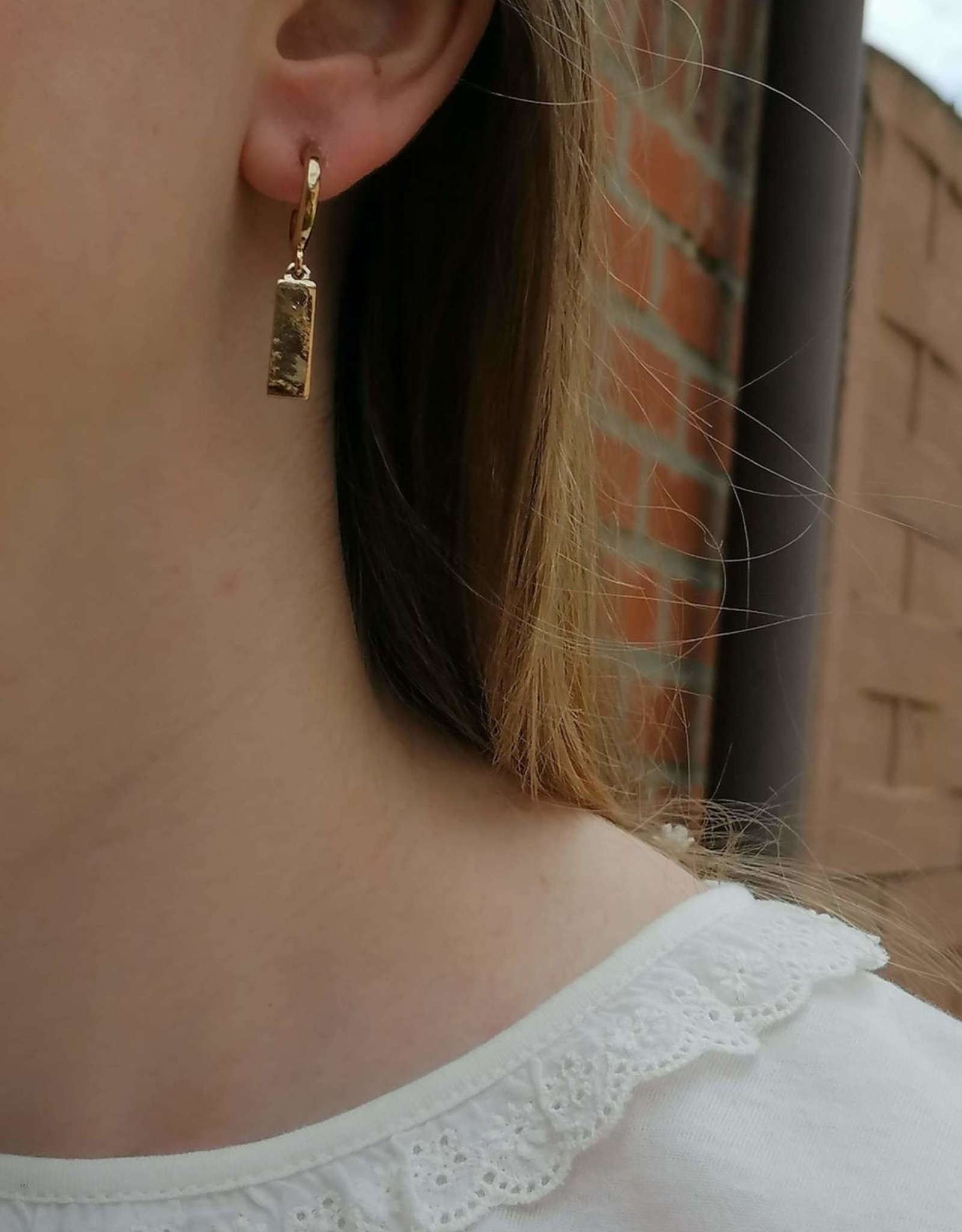 Little Hoops Bar Earrings gold