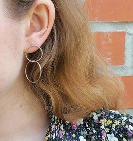Innercircle Earrings gold (L)