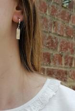 Little Hoops Bar Earrings silver