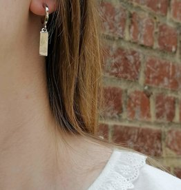 Little Hoops Bar Earrings silver