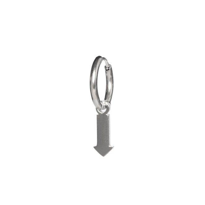 Oorring arrow zilver