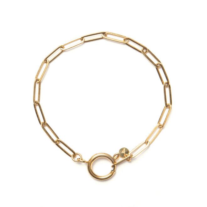 Armband chain big goud