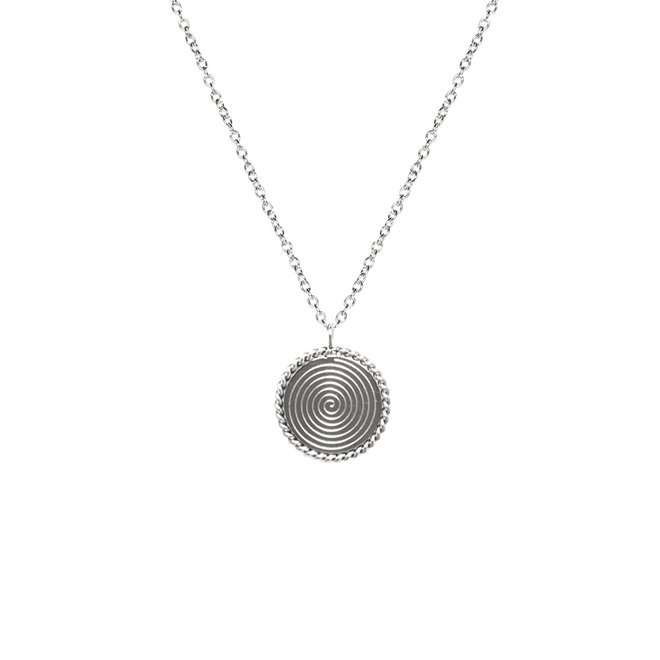 Ketting round twisted lang zilver