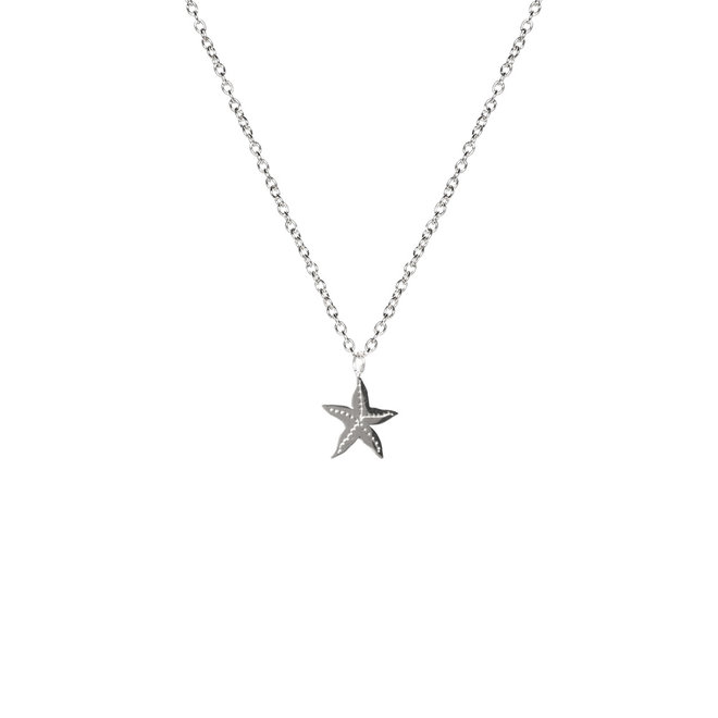 Ketting starfish kort zilver
