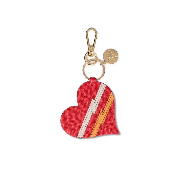 Bag charm heart red