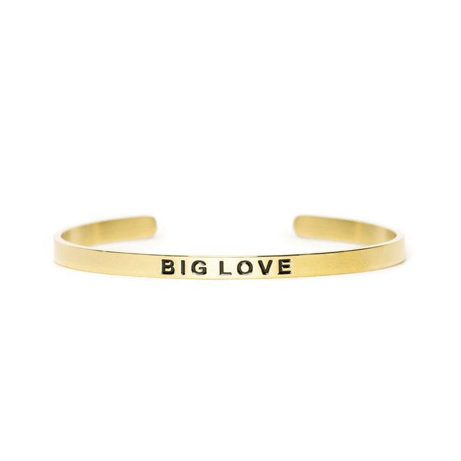 Cuff big love goud