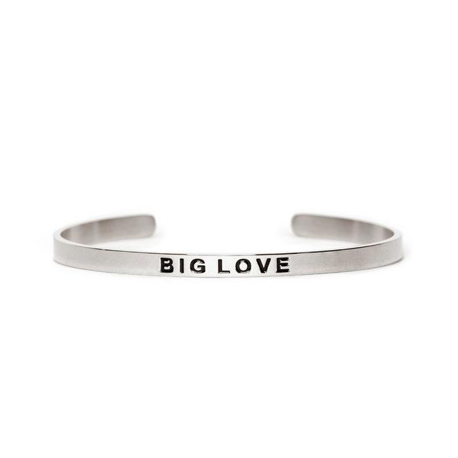 Cuff big love zilver
