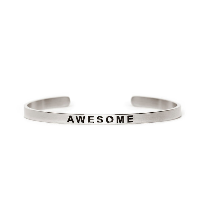 Cuff awesome zilver